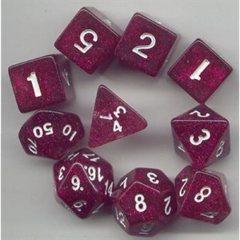 Glit: 10Pc Cube Purple / White