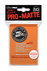 50ct Pro-Matte Orange Standard Deck Protectors