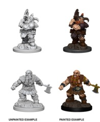 Nolzur's Marvelous Miniatures - Dwarf Male Barbarian