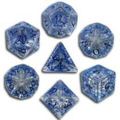 Elven Dice - Translucent & Blue
