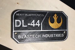 DL-44 Plaque Fan Made Cosplay Item