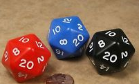 D20 Spindown 30mm - Assorted