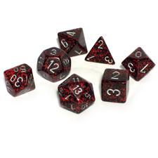Speckled Silver Volcano 7 Dice Set