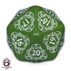 Elven Countdown D20 - Green
