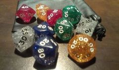 Assorted Glitter 10pc Polyhedral