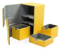 Ultimate Guard Twin Flip Deck Box w/Tray - Xenoskin, Amber
