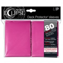 Ultra Pro Eclipse sleeves 80 count hot pink