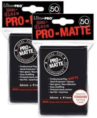 Ultra Pro PRO-MATTE (50Count) Black Deck Protector Sleeves