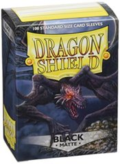 Dragon Shield Black matte 100 count