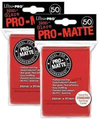 Ultra Pro PRO-MATTE (50Count) Red Deck Protector Sleeves -