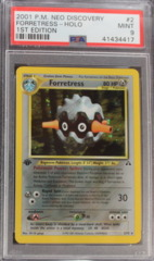 Forretress-Holo 2/75 PSA 9 MINT 1st Edition Neo Discovery