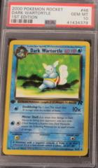 DARK WARTORTLE 46/82 PS 10 GEM MT 1st Edition Team Rocket