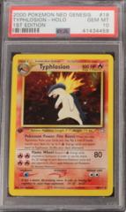 Typhlosion-Holo 18/111 PSA 10 1st Edition Gem MT Neo Genesis