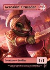 Acroakin' Crusader: Creature - Soldier 1/1 (Foil)