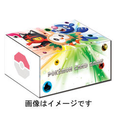 Pokemon Center Original Card Game Card box Rowlet Litten Ashimari w/special Energy cards