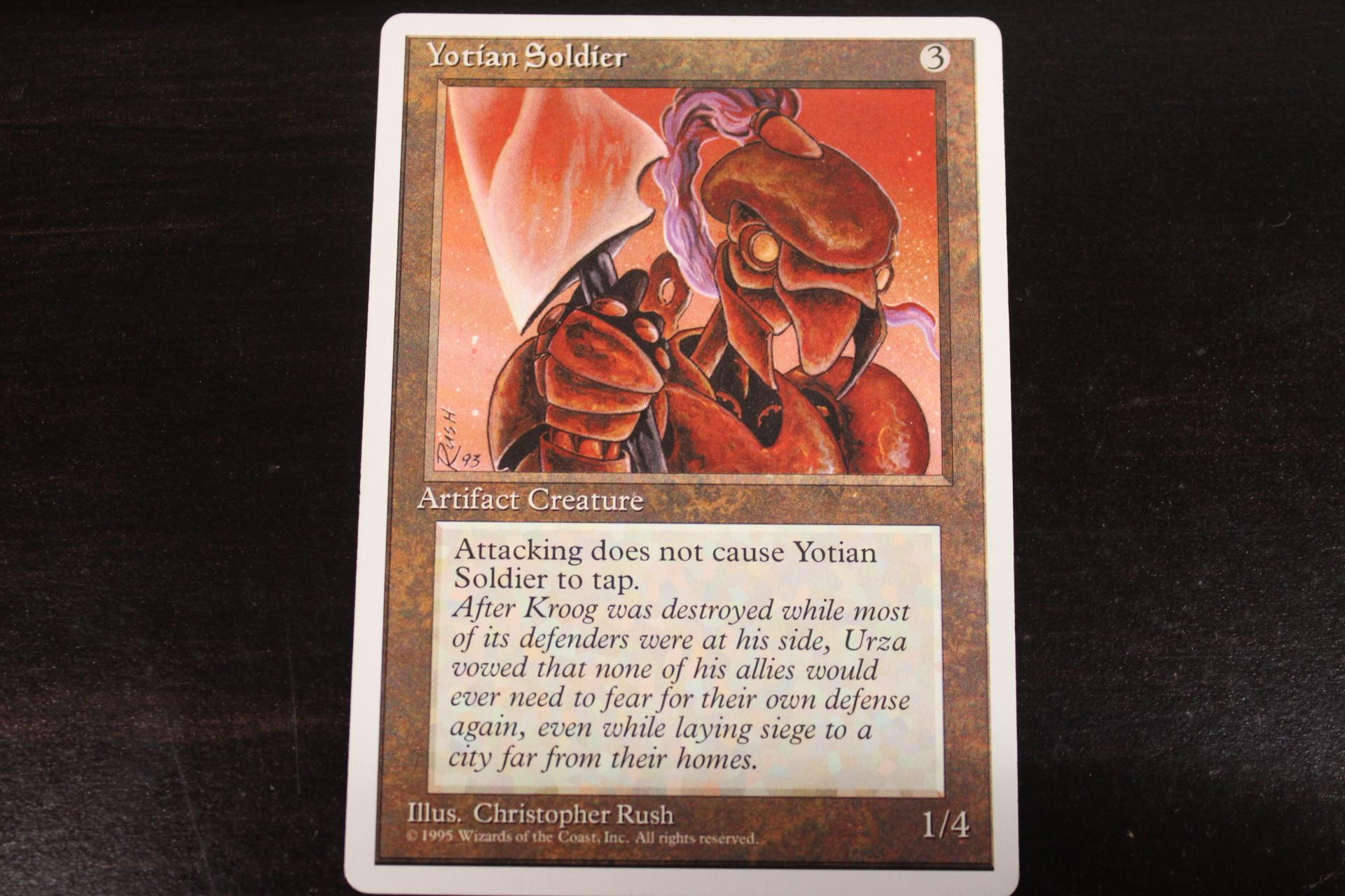 4x Yotian Soldier MTG Antiquities NM Magic Regular