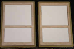 Gold Border Blank Magic Cards 2x
