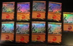 Snow-covered Mountains Foil German Lot (9)