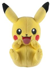 Pikachu Laughing (arms by mouth) Plush TOMY