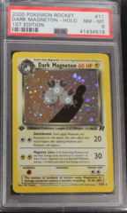 DARK MAGNETON-HOLO 11/82 PSA 8 NM-MT 1st Edition Team Rocket
