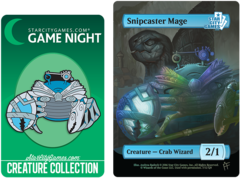 Token and Pin Set - Snipcaster Mage: Creature - Crab Wizard 2/1 (Foil)