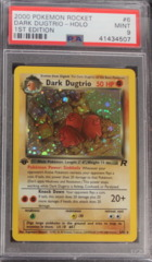 DARK DUGTRIO-HOLO 6/82 PSA 9 1st Edition Team Rocket