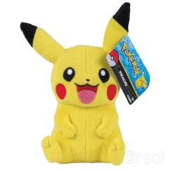 Pikachu Happy Plush (arms down) TOMY