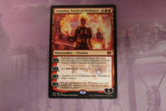 Chandra, Torch of Defiance - Grand Prix Draft Stamped LP
