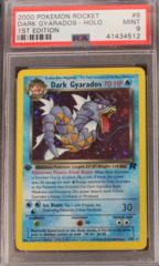 DARK GYARADOS-HOLO 8/82 PSA 9 MINT 1st Edition Team Rocket