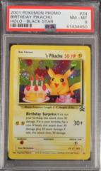 Birthday Pikachu 24 Holo PSA 8 NM-MT