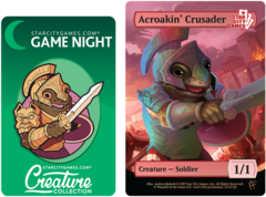 Token and Pin Set - Acroakin' Crusader: Creature - Soldier 1/1 (Foil)