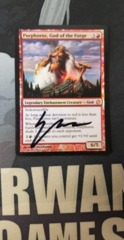 Purphoros, God of the Forge Artist Signed LP Foil