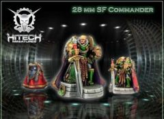 S-F Commander (1) 28mm Miniature Space Marine Champion Lord Hero 28SF001 Unpainted