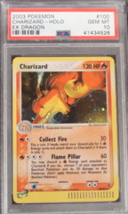 Charizard-Holo 100/97 PSA 10 GEM MINT EX Dragon