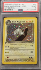 DARK MAGNETON-HOLO 11/82 PSA 9 MINT 1st Edition (B) Team Rocket