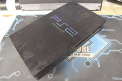 Black Playstation 2 Fat Console (SCPH-39001): Parts or Repair Only - Sold as is