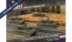 Leopard 2 Tank Platoon (TDBX01) 5 Plastic Leopard 2 Tanks