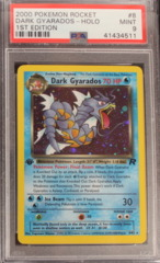 DARK GYARADOS-HOLO 8/82 PSA 9 MINT 1st Edition (B) Team Rocket
