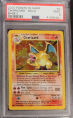 CHARIZARD-HOLO 4/130 PSA 9 MINT Base Set 2
