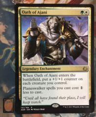 Oversized Oath of Ajani Card (read description)
