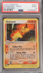 Charizard-Holo 100/97 PSA 9 MINT EX Dragon