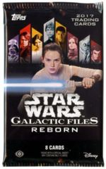 Star Wars Galactic Files Reborn 8 card pack