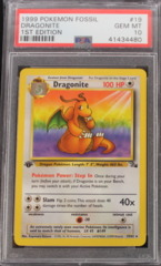 Dragonite 19/62 PSA 10 GEM MT 1st Edition Fossil