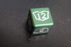 Green Small Planeswalker Loyalty Counter 7-12 Metal