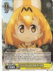 KMN/W51-009R - Serval, Saying Hi to Friends