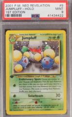 JUMPLUFF-HOLO 9/64 PSA 9 MINT 1st Edition Neo Revelation