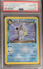 DARK BLASTOISE 20/82 PSA 10 GEM MT 1st Edition (B) Team Rocket