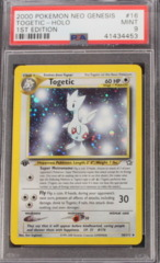 TOGETIC-HOLO 16/111 PSA 9 MINT POKEMON NEO GENESIS 1ST EDITION
