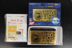 Japanese Premium Gold Pokemon Center 3DS LL (With Clear cover and Screen Protectors)