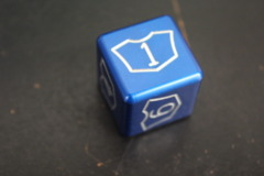 Blue Large Planeswalker Loyalty Counter 1-6 Metal